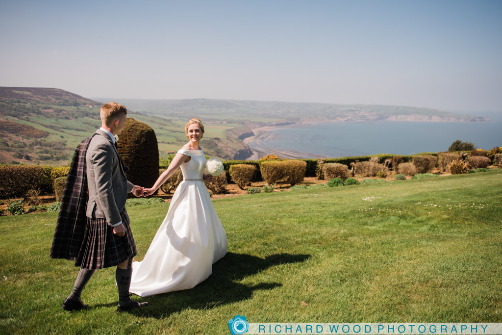 wedding photographer Raven Hall Whitby North Yorkshire