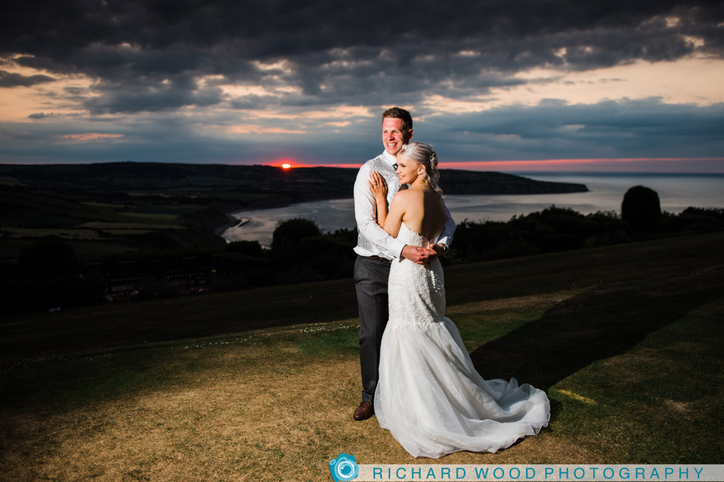 North Yorkshire wedding photographers Raven Hall hotel Whitby